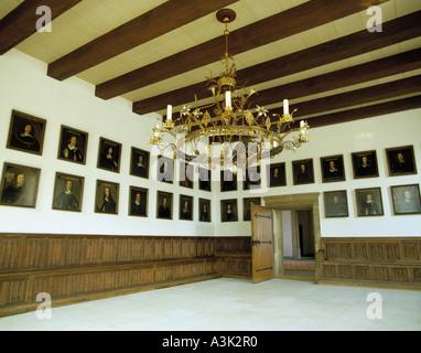 Friedenssaal im Rathaus Osnabrueck erinnert an den Westfaelischen Frieden von 1648 - Stock Photo