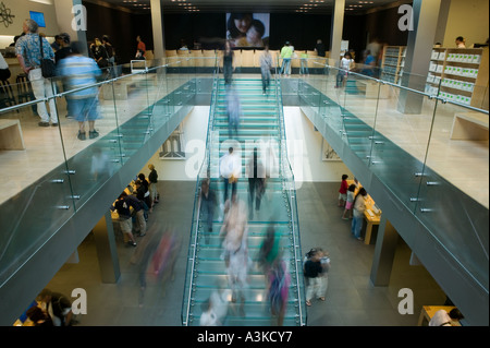 General view of the Apple store in SoHo in New York City USA October 2005 - Stock Photo