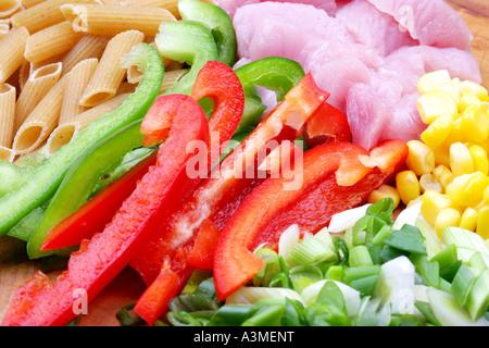 Turkey Pasta Ingredients - Stock Photo