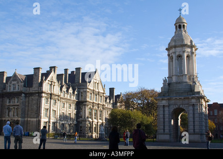 The Trinity College in Dublin Ireland - Stock Photo