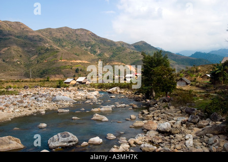River in the near of Sapa - Vietnam - Stock Photo