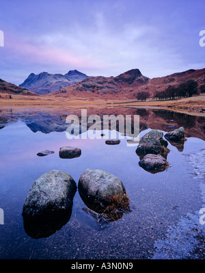 Ice Rimmed Blea Tarn on a frosty dawn in the Lake District