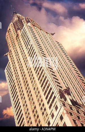 The Chrysler Building USA New York City NYC Midtown Manhattan 42nd Street - Stock Photo