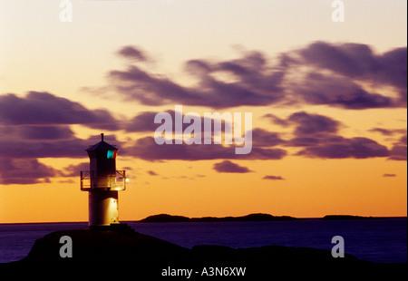 Lighthouse . Marstrand , Bohuslan , Sweden - Stock Photo