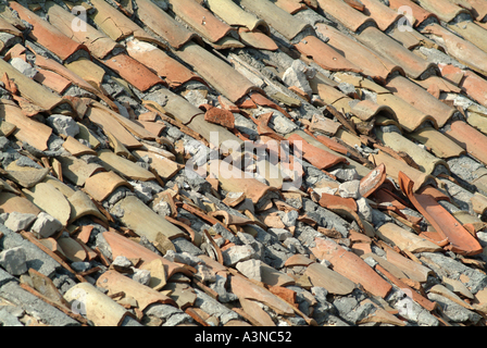 Old Ridge Roof Tile At A Building Material Reclamation