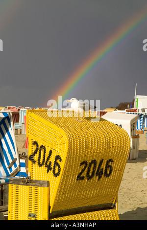 Wicker Beach Chair / Langeoog  - Stock Photo