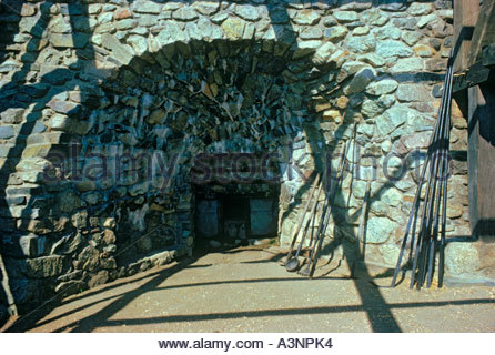 Saugus Iron Works Furnace a National Historic Site at Saugus Massachusetts USA - Stock Photo