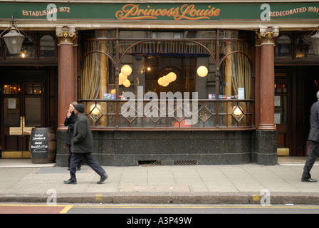 The Princess Louise pub in New Oxford Street, London, England, UK, 2007. - Stock Photo