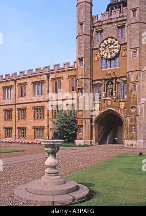 The Great Court, Trinity College, University of Cambridge - Stock Photo