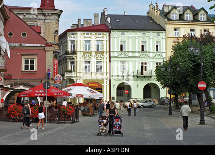 Old Market Square in Przemysl, Poland - Stock Photo