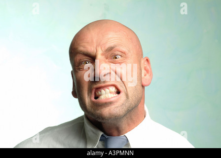 Man with a furious look on his face - Stock Photo