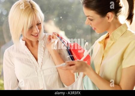 2 Women shopping - Stock Photo