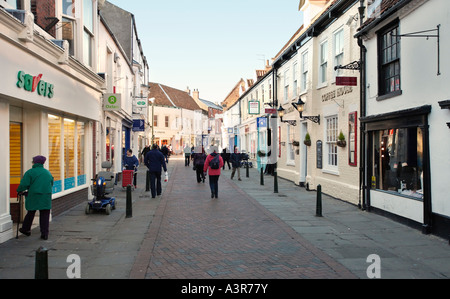 High street in Beverley town centre, East Yorkshire, UK - Stock Photo