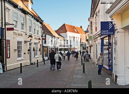 Shopping in Beverley, East Yorkshire, UK - Stock Photo