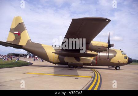 Lockheed C 130H Hercules of the3 Oman Royal Air Force.   GAV 1083-37 - Stock Photo