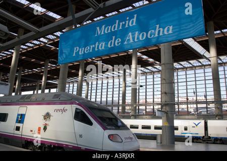 Madrid puerta de atocha station alvia train stock photo royalty free image 8251354 alamy - Puerta de atocha ave ...