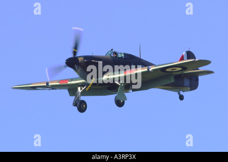 Hawker Hurricane IIC operated by the RAF Battle Of Britain Flight - Stock Photo