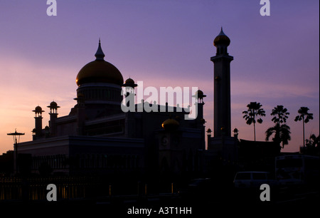 Omar Ali Saifuddin Mosque in Bandar Seri Begawan Brunei - Stock Photo