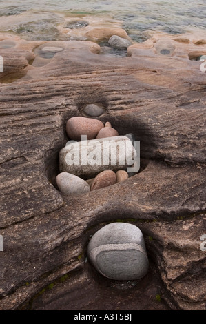 Grindstone Point in Lake Superior Provincial Park near Wawa Ontario Canada - Stock Photo