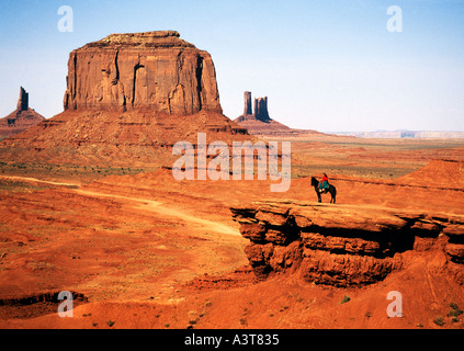 United States of America, Utah, Arizona, Monument Valley, Navajo Tribal Park - Stock Photo