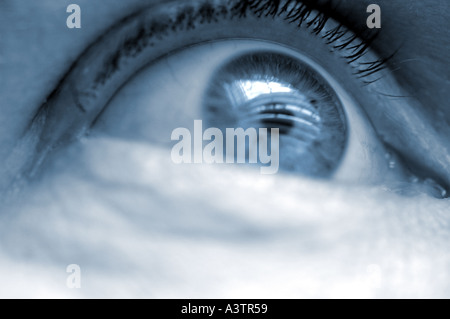 Eye looking towards future - Stock Photo