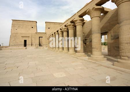 Isis Temple, UNESCO World Heritage Site, Philae Island, Aswan, Egypt - Stock Photo