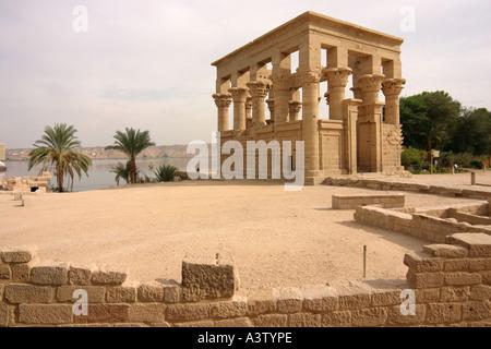 Kiosk of Trajan, Philae island, Aswan, Egypt - Stock Photo