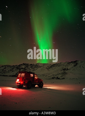 Aurora Borealis, Northern Lights, Iceland - Stock Photo
