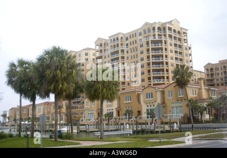 Condominiums located near the Gulf beach. Clearwater Beach Florida USA - Stock Photo