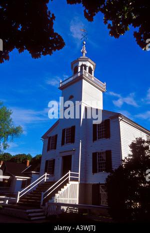 St. Anne Catholic Church, Mackinac Island, Michigan - Stock Photo