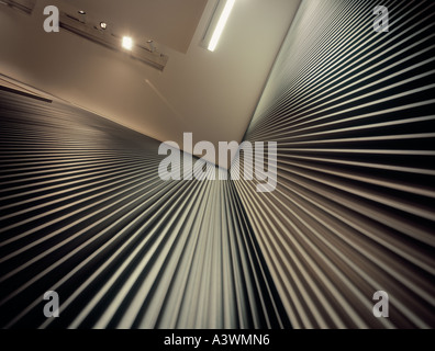 Converging lines, (corner in corrugated wall). - Stock Photo