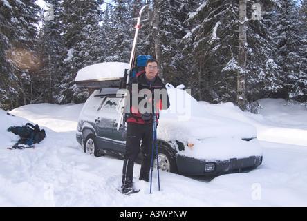 Winter Camping in Upper Peninsula of Michigan Stock Photo ...