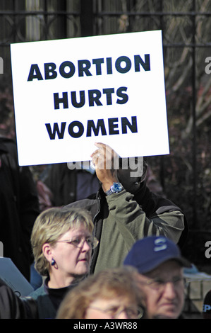 anti abortion pro life demonstration in Atlanta GA Georgia USA - Stock Photo
