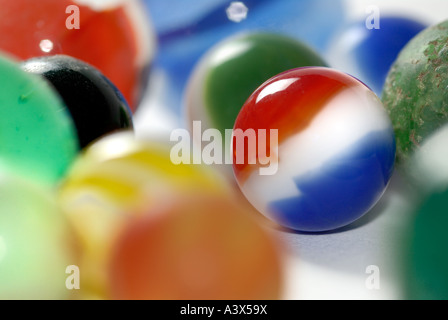 close up of marbles - Stock Photo