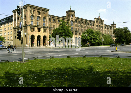 geography / travel, Germany, Bavaria, Munich, buildings, Regierung von Oberbayern, exterior view, architect: Friedrich - Stock Photo