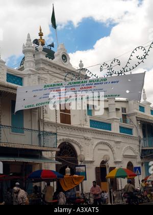 Port Louis Mauritius Jummah Masjid Mosque Outside - Stock Photo