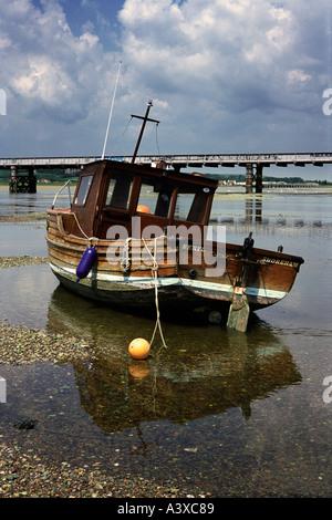 fishing boat on the River Adur Shoreham Sussex - Stock Photo