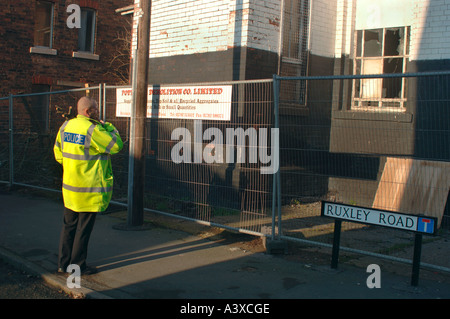Staffordshire Police Officer On Duty - Stock Photo