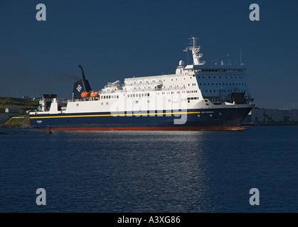 Canada Newfoundland Port Aux Basques ferry from Nova Scotia entering harbour - Stock Photo