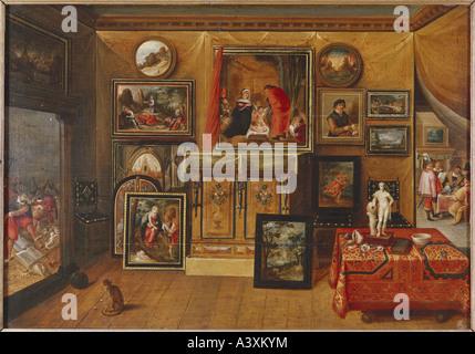 'fine arts, Francken, Frans II, (1581 - 1642), painting, 'interior', Museum of Arts and History, Geneva, historic, - Stock Photo