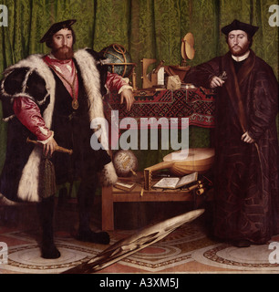 'fine arts, Holbein, Hans the Younger, (circa 1497 - 1543), painting, 'the ambassadors', 1533, oil on panel, 207 - Stock Photo