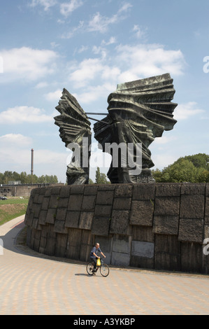 Monument to the Silesian insurgents in Katowice Poland - Stock Photo