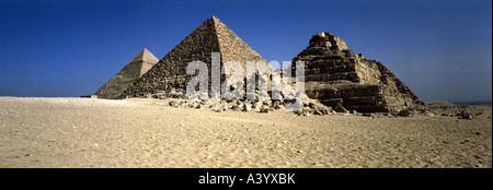 travel /geography, Egypt, Giza, buildings, pyramid of Menkaure, exterior view, circa 2540 - 2520 B.C., historic, - Stock Photo