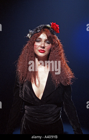 Kate Bush British female singer songwriter performing her song Hammer Horror 1978 PER0117 - Stock Photo