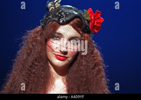 Kate Bush British female singer songwriter performing her song Hammer Horror 1978 PER0119 - Stock Photo