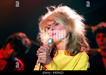 Debbie Harry of pop group Blondie performing Picture This PER0121 - Stock Photo