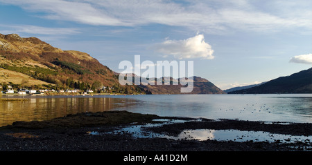 The village of Lochgoilhead, which is located on Loch Goil. - Stock Photo