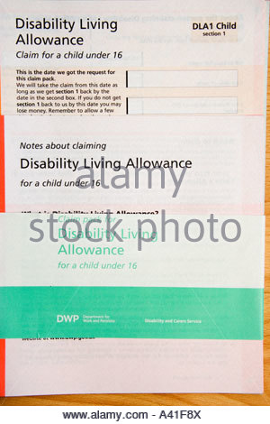 British State Benefit, Dla Disabilitiy Living Allowance Claim Form