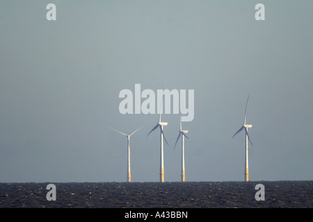 OffShore Wind Farm Thames Estuary East England aerial view of