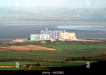 Hinkley Point Nuclear Power Station taken from Quatntock Hills. Somserset. England. December 2006 - Stock Photo
